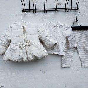 Girls 12M Winter Jacket Set